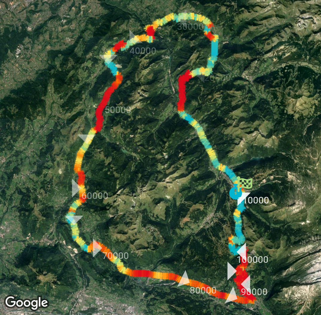 The Run Away! app: Drawing gradient lines on top of Maps